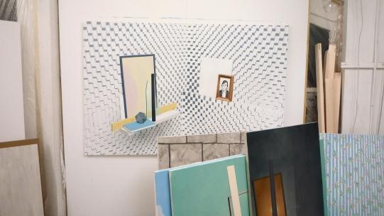 Vue atelier Sépànd Danesh (2014). Photo instantané d'art