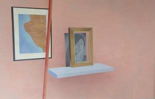 Sépànd Danesh, Sans titre, 100x155cm, huile, acrylique et spray sur toile, 2014. © Maurine Tric