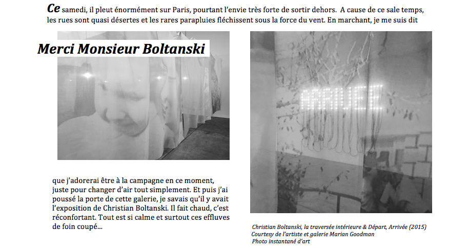 Boltanski, faire-part 1 (c) instantané d'art